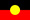 This is the The Australian Aboriginal Flag represents Aboriginal Australians. The flag's width is twice its height. It is horizontally divided into a black region (above) and a red region (below). A yellow disc is superimposed over the centre of the flag.