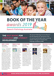 This graphic displays the Book of the Year poster for 2019. It has photograph of children reading, a thumb nail of each winning book cover and a citation about why the book was the winner in its category.