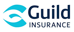 "This graphic displays the official logo of Guild Insurance. The graphic carries the words "" Guild Insurance"" in black against a white background."