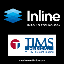 This is an advertisement for Inline Imaging Technology and Tims Medical.
