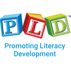 This is an advertisement for PLD Literacy. It says promoting literacy development and has the company logo.